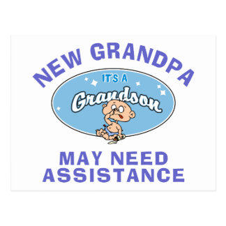 Funny New Grandpa May Need Assistance Postcards