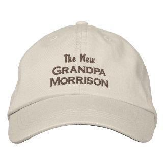 Funny New Grandpa New Baby Custom Last Name Embroidered Baseball Cap