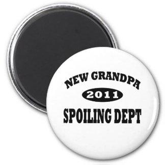 Funny New Grandpa Spoiling Department Fridge Magnets