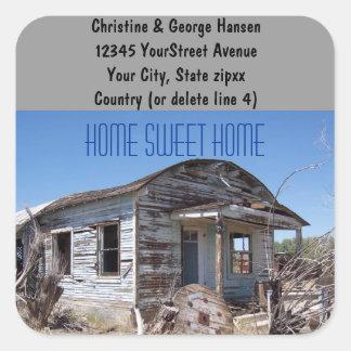 Funny New Home return address Square Sticker