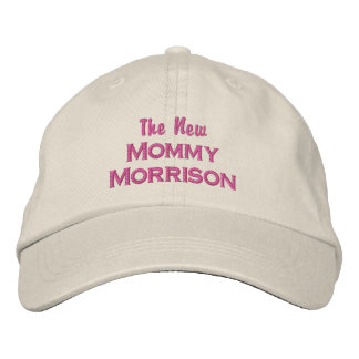 Funny New Mommy New Baby Custom Mom Last Name Embroidered Baseball Cap