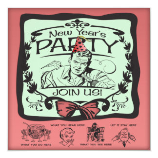 Funny New Year's Eve Party Custom Invitations
