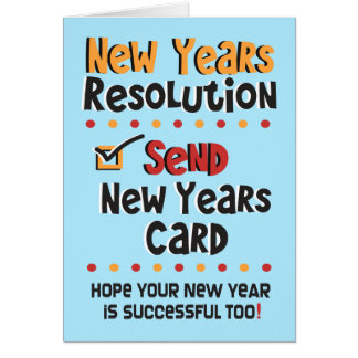 Funny New Years Note Card - Resolutions Humor