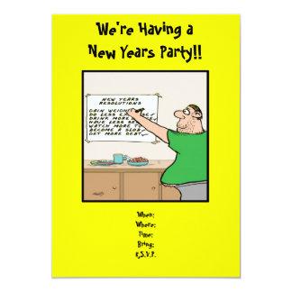 "Funny New Years Party Invitation, 5"" X 7"" Invitation Card"