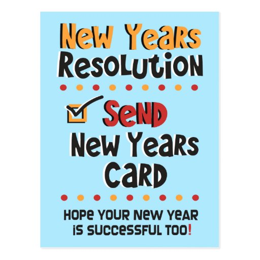 Funny New Years Resolution © New Year Humor Cards Postcards