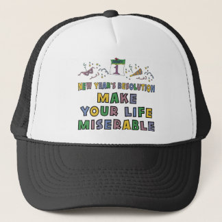 Funny New Year's Resolution T-Shirt Trucker Hat