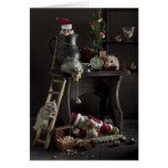 Funny New Year's still-life with hamsters Card