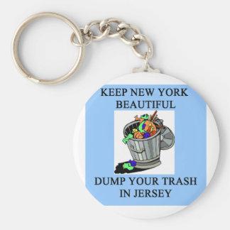funny new york new jersey joke keychains
