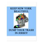 funny new york new jersey joke postcard