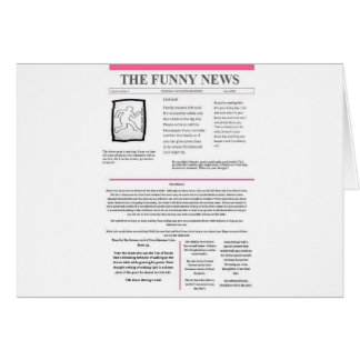 funny news issue 1 card