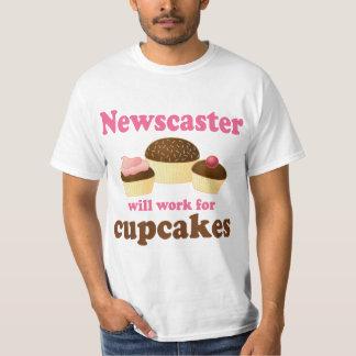 Funny Newscaster Tee Shirt