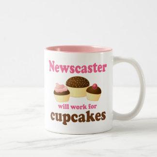 Funny Newscaster Two-Tone Coffee Mug