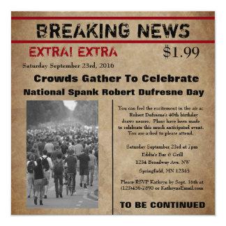 Newspaper invitations announcements zazzle funny newspaper birthday invitation stopboris Images