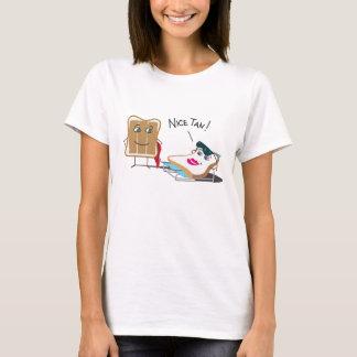 "Funny ""Nice Tan!"" Toast Sunbathing Cartoon T-Shirt"