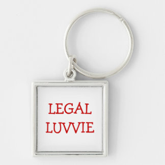 Funny Nickname for Lawyer Barrister - Legal Luvvie Keychain