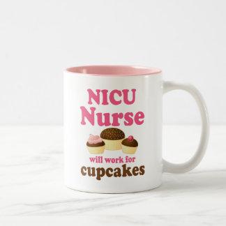 Funny Nicu Nurse Two-Tone Coffee Mug