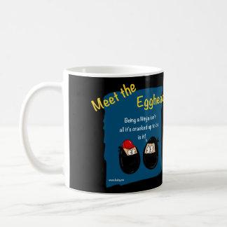 Funny Ninja cartoon gifts - eggheads by Leah Classic White Coffee Mug