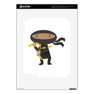 Funny Ninja Decals For iPad 3