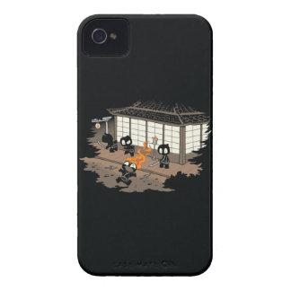Funny Ninja Fire Fail Cartoon iPhone 4 Case-Mate Case