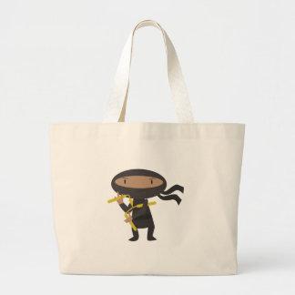 Funny Ninja Large Tote Bag