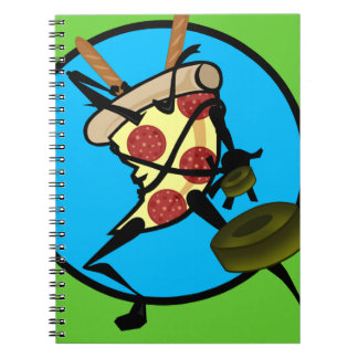 FUNNY NINJA PIZZA SPIRAL NOTEBOOK