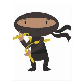 Funny Ninja Postcard