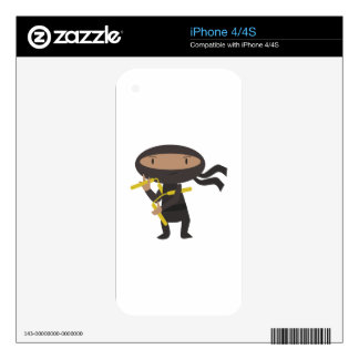 Funny Ninja Skins For iPhone 4S
