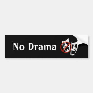 """Funny """"No Drama"""" Theater Masks Bumper Sticker"""