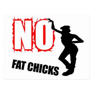 Funny No Fat Chicks Postcard