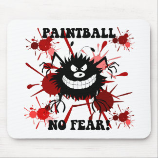 Funny no fear paintball mouse pad