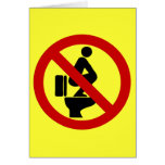 Funny NO Feet on the Seat ⚠ Thai Sign ⚠ Card