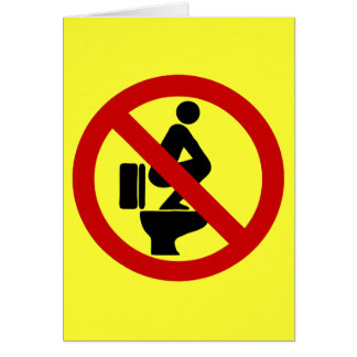 Funny NO Feet on the Seat ⚠ Thai Sign ⚠ Greeting Card