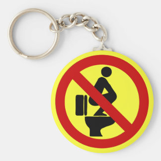 Funny NO Feet on the Seat ⚠ Thai Sign ⚠ Keychain