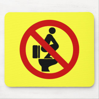 Funny NO Feet on the Seat ⚠ Thai Sign ⚠ Mouse Pad