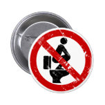 Funny NO Feet on the Seat ⚠ Thai Sign ⚠ Pins