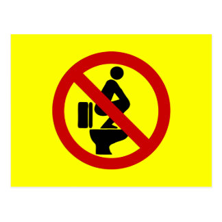 Funny NO Feet on the Seat ⚠ Thai Sign ⚠ Postcard