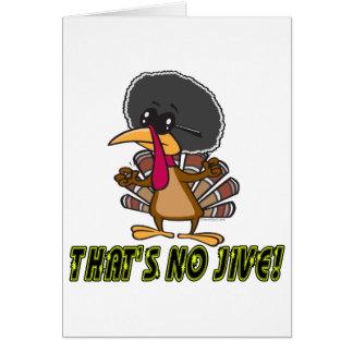 funny no jive turkey cartoon card