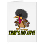 funny no jive turkey cartoon greeting card