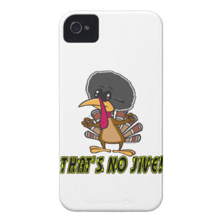 funny no jive turkey cartoon iPhone 4 Case-Mate case