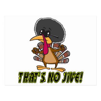 funny no jive turkey cartoon postcard