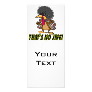 funny no jive turkey cartoon rack card template