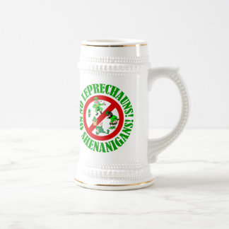Funny no leprechauns   St Patrick's day 18 Oz Beer Stein