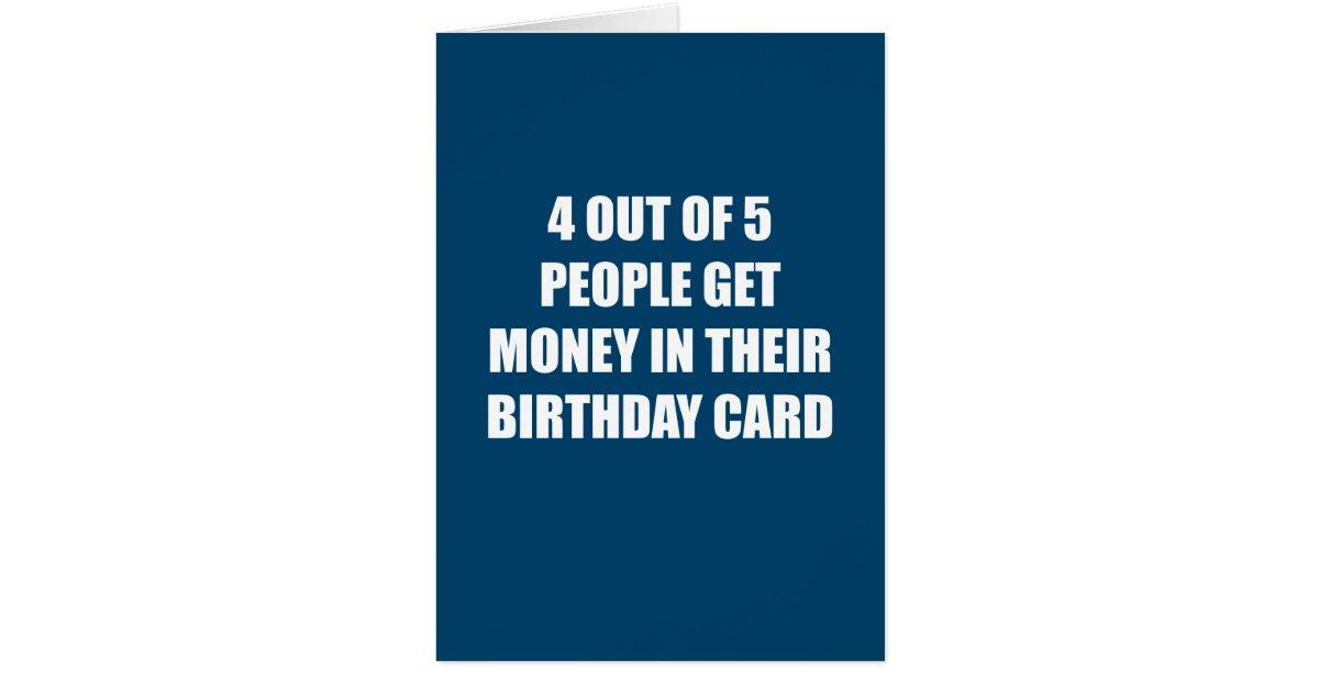 Funny No Money Birthday Card Zazzle
