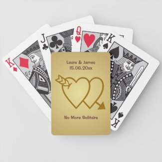 Funny No More Solitaire Wedding Hearts Card Deck