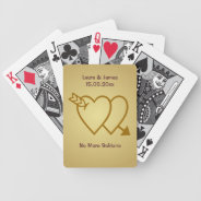 Funny No More Solitaire Wedding Hearts Card Deck at Zazzle