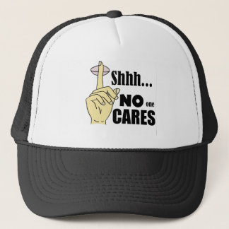 Funny No One Cares Cartoon Trucker Hat