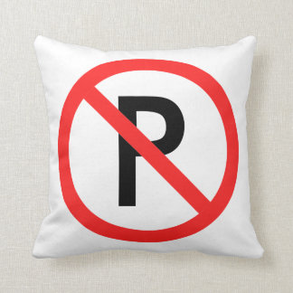 Funny No parking Throw Pillow