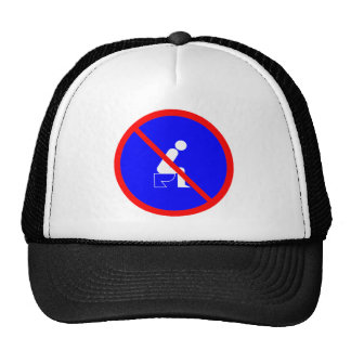 Funny No Sitting On Toilet Sign Hat