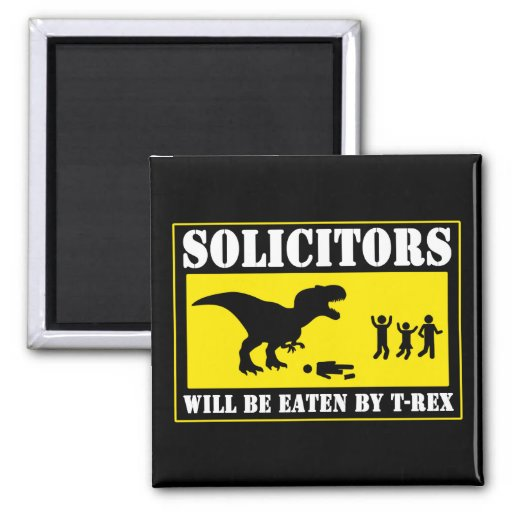 Funny No Soliciting 2 Inch Square Magnet