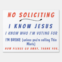 graphic about Funny No Soliciting Sign Printable known as No Soliciting Back garden Yard Symptoms Zazzle